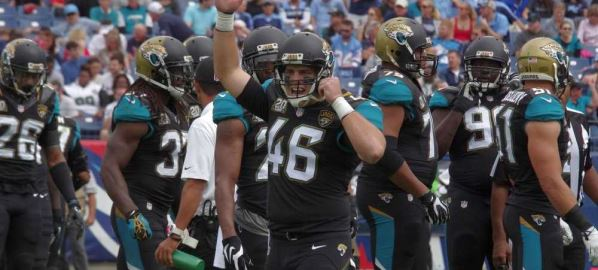 The Jacksonville Jaguars during game against the Tennessee Titans.