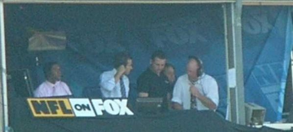 NFL on Fox Booth at Candlestick Park San Francisco 49ers vs St. Louis Rams