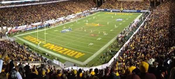 Sun Devil Stadium during the 2013 Pac-12 Championship game.